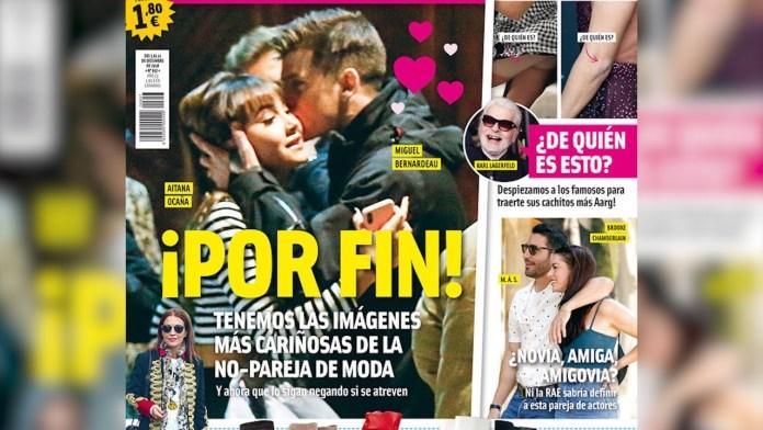 El beso de Aitana Ocaña y Miguel Bernadeau