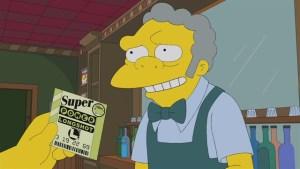 Los números de la lotería en Los Simpson