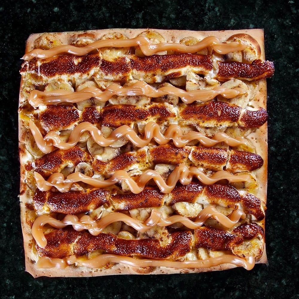 Delivery de Pizza - Pizza do Rão - Pizza de Banana com Doce de Leite - Pizza Doce