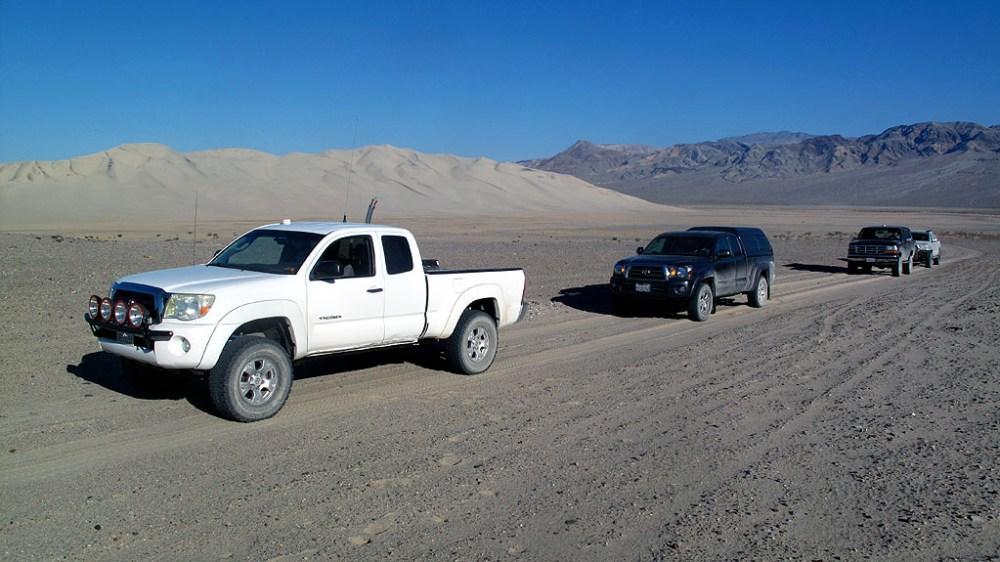 The backside of the Eureka Dunes.