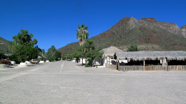 The town of San Javier is quiet with cobblestone streets and super friendly kids who like steekers.