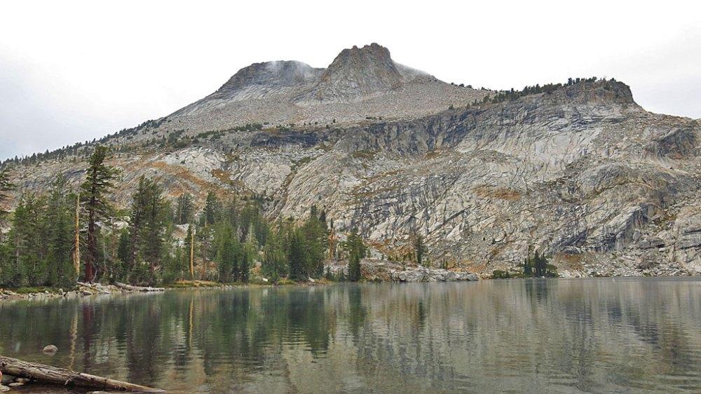 Nine thousand foot elevation May Lake in Yosemite.