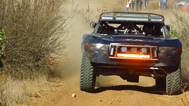 Zak Langley with co-driver Josh Valco piloted the COPS Racing Trophy Truck #50 off the line in Ensenada. Rick Johnson assumed driving duties for the second half of the race, bringing the car home.