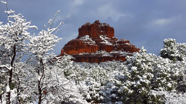 Bell Rock near the Village of Oak Creek is reputed to have strong Vortex energy all around it. In 1987 over 5,000 New Agers gathered here to be part of the worldwide Harmonic Convergence, waiting for Bell Rock's top to open and reveal a rising spaceship. This is perfectly normal behavior in Sedona, or any part of the world where groups of moonstruck people congregate.