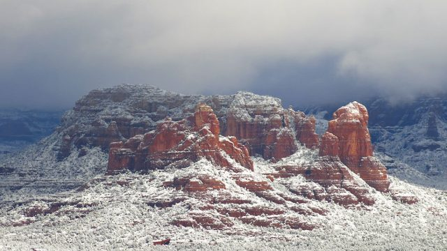 Capital Butte towers to the north of Sedona.