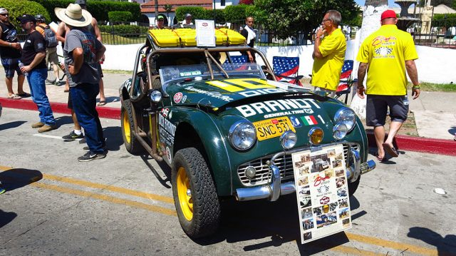 This 1959 Triumph TR3 was in the first NORRA Mexican 1000 50 years ago, but DNF'd after breaking a crankshaft near Santa Ynez. This year, the car saw the checkers in San Jose del Cabo.