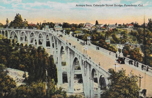 On front: Arroyo Seco. Colorado Street Bridge. Pasadena, Cal.