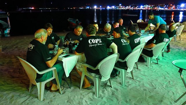 We celebrated our first night in La Paz with a team dinner on the beach at Stella's Cucina Al Forno & Beach Club, an exceptional Italian restaurant.