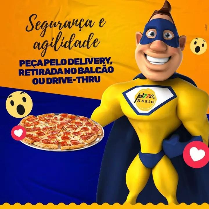 Pizza Mario Segurança e Agilidade