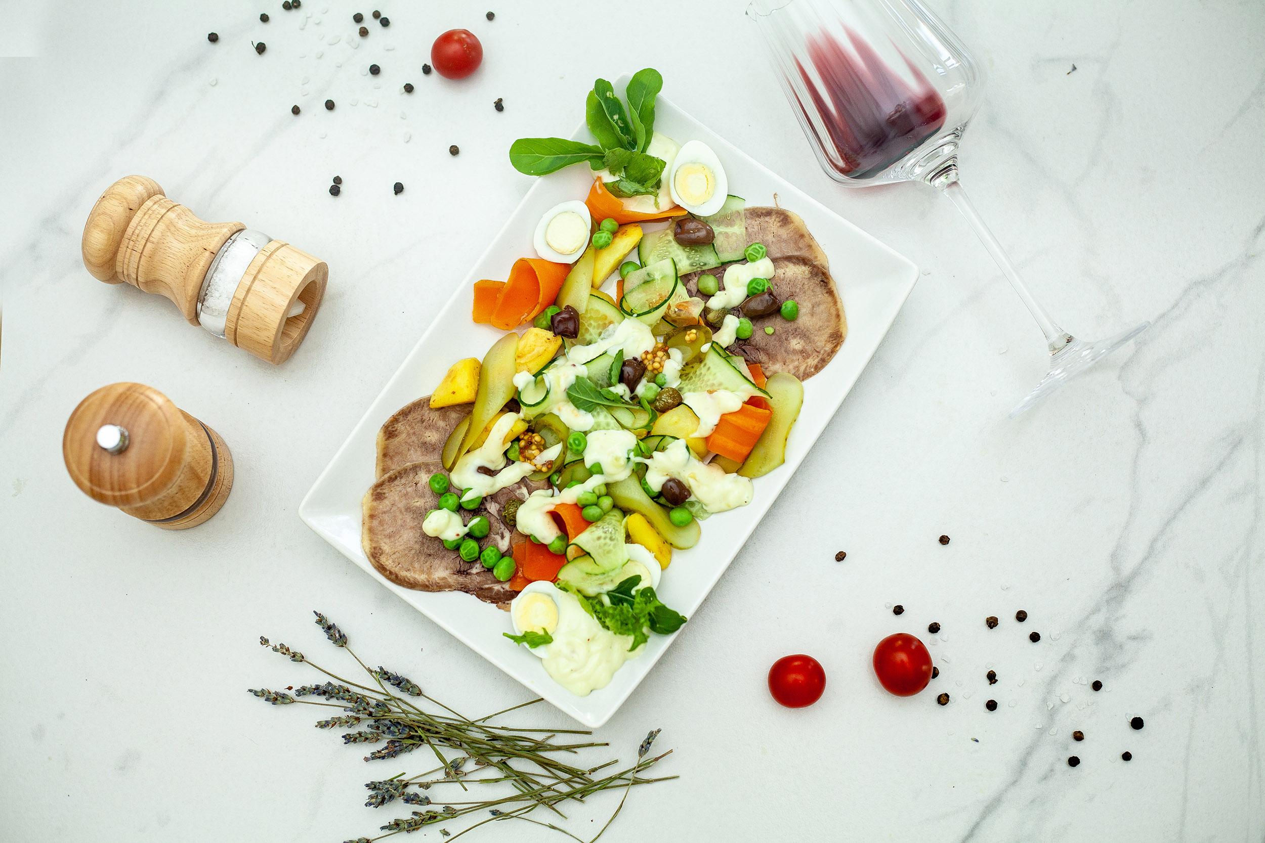 Салат оливье по-французски