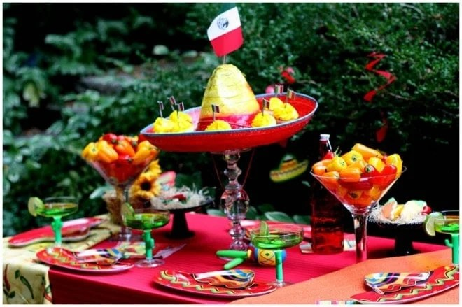 Image result for mexican party table