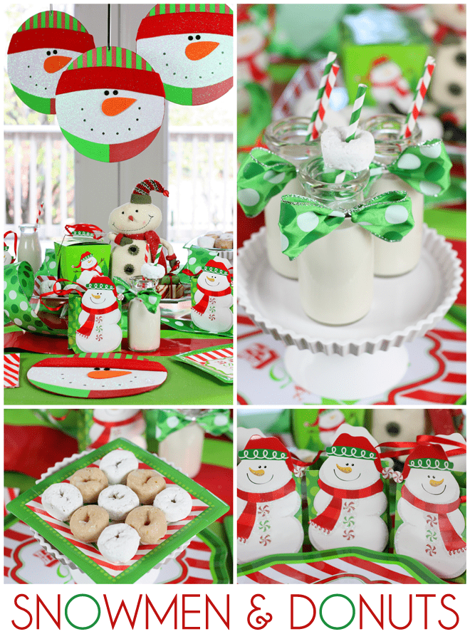 Host A Snowmen Amp Donuts Christmas Breakfast Pizzazzerie