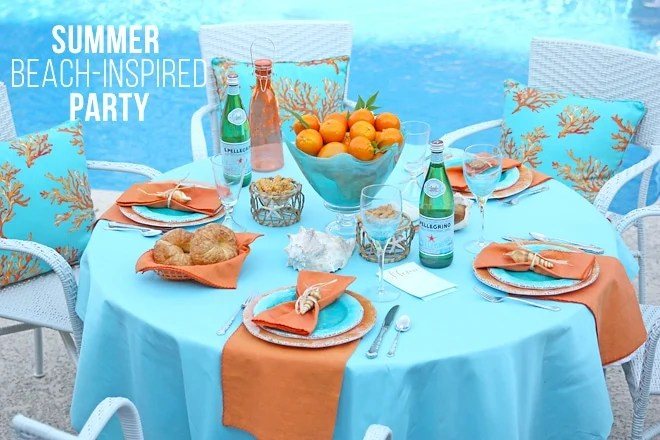 Spa Party Ideas Beach Theme