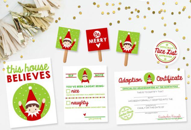 Free Elf On The Shelf Printable Kit Pizzazzerie