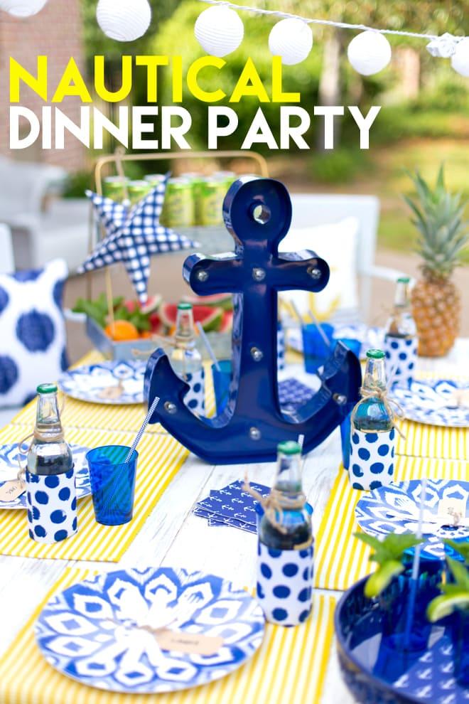 Nautical Backyard Summer Dinner Party | Pizzazzerie on Nautical Backyard Ideas id=93109