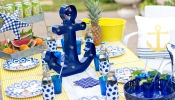 Nautical Backyard Summer Dinner Party