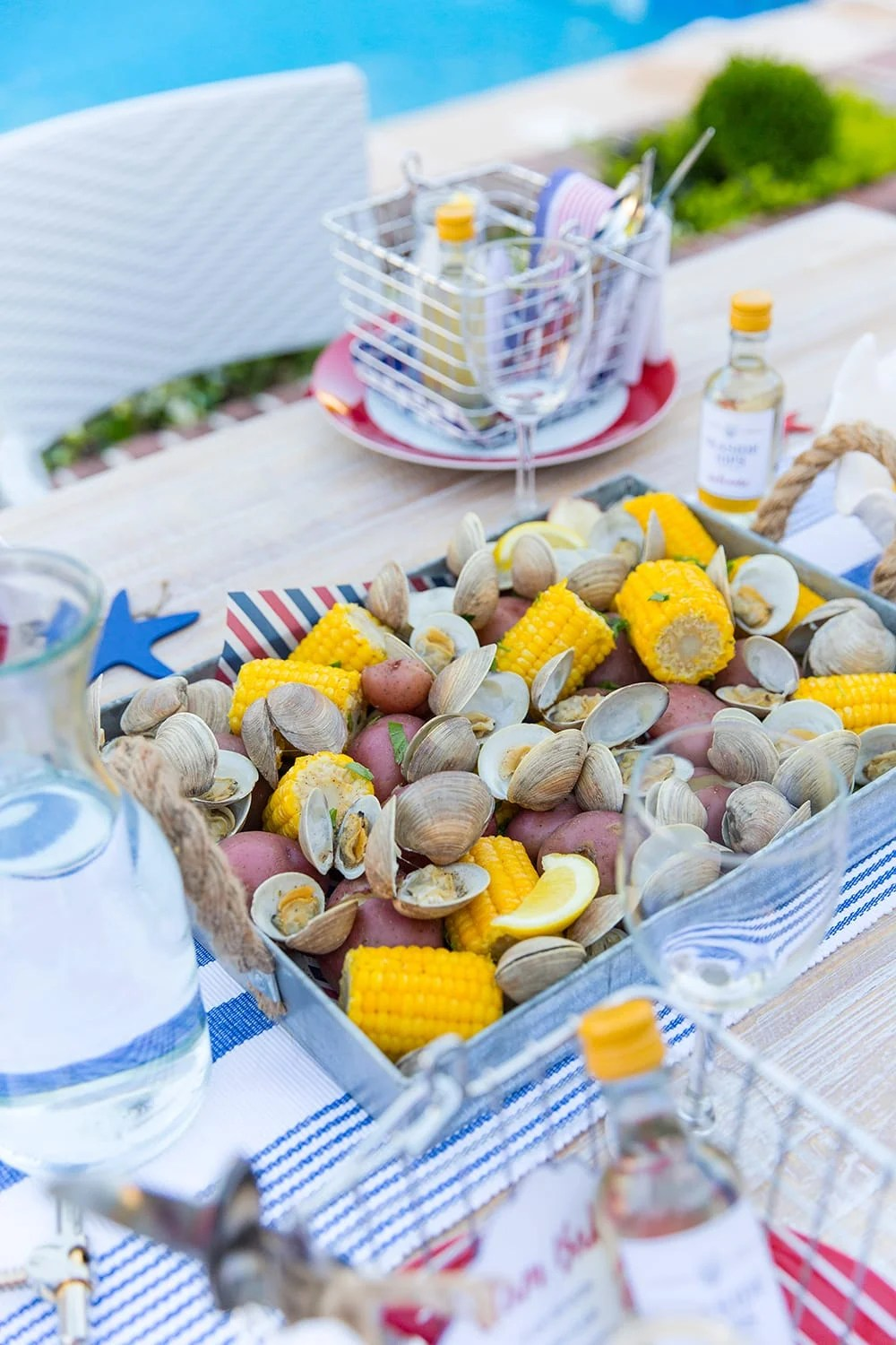 Host A 4th Of July Dinner Clam Bake Style Pizzazzerie