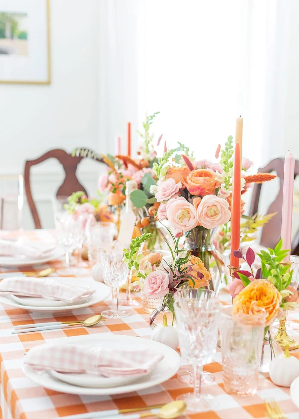 My Blush Pink And Orange Fall Tablescape Pizzazzerie