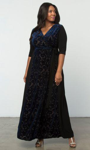 Formal Plus Size Maxi Dress, ladies formal velvet dress, formal party plus size dress
