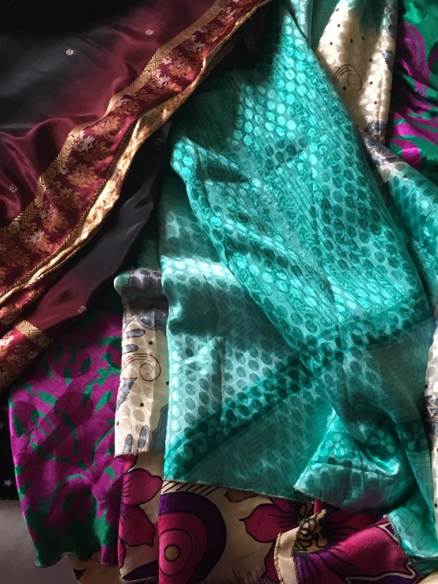 eco friendly skirts, saris to skirts, reused