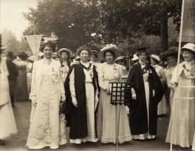NPG x17396; Suffragette March in Hyde Park by Mrs Albert Broom