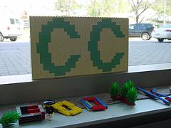 Creative Commons logo in lego