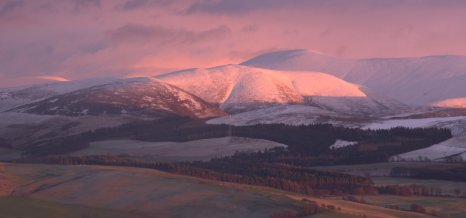 Pink Light on Fells