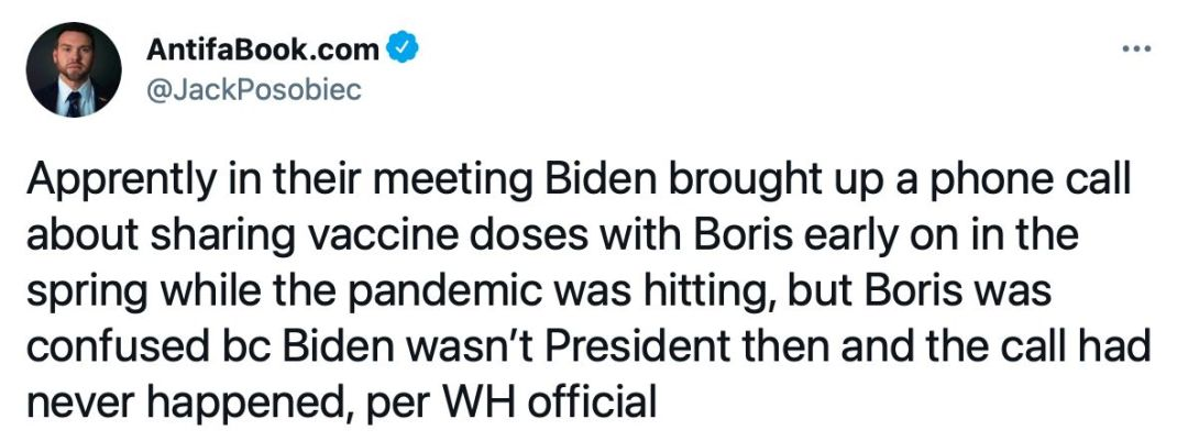 Biden Johnson Phone Call