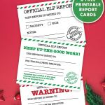 Official Elf Report Free Printable Elf Report Cards Pjs And Paint