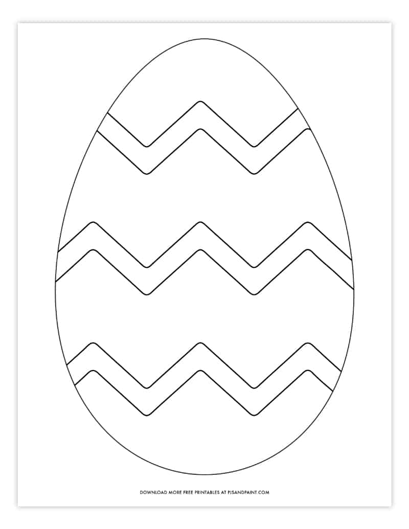 Free Printable Easter Egg Coloring Pages Easter Egg Template