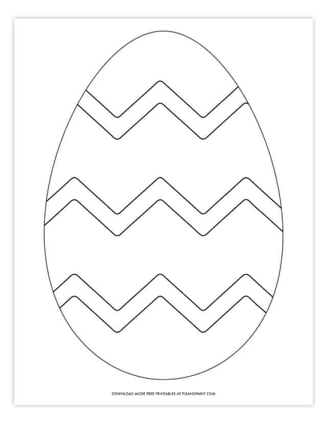 Free Printable Easter Egg Coloring Pages - Easter Egg Template