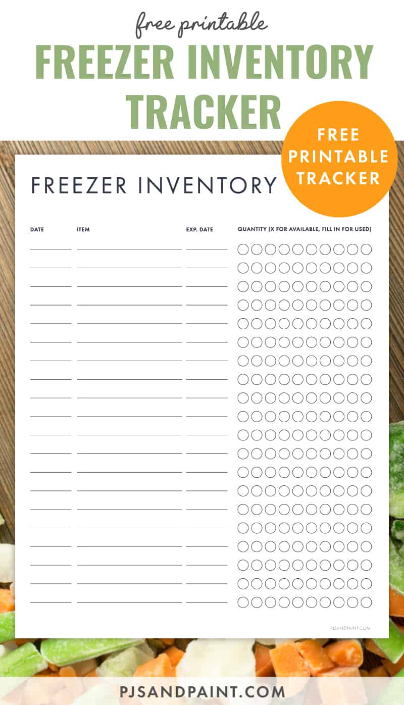The freezer compressor pressurizes the refrigerant in the condenser coils, and the refrigerant passes into the evaporative coils through an aperture, where it vaporizes. Free Printable Freezer Inventory Tracker Pjs And Paint