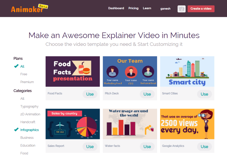 animaker for building video animations and producing online content