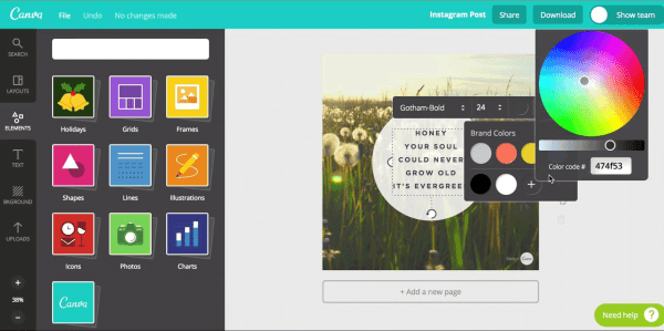 layouts and elements for making slide presentations for websites on canva
