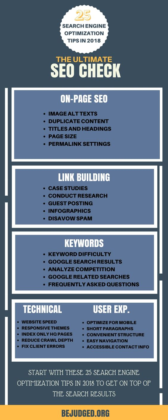 checklist about tips on organic web seo