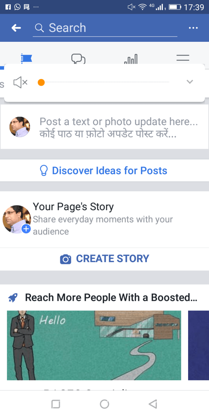 upload a video or image as highlighted content on your facebook page