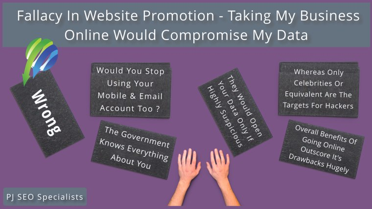 fallacy in website promotion area over risk in going online