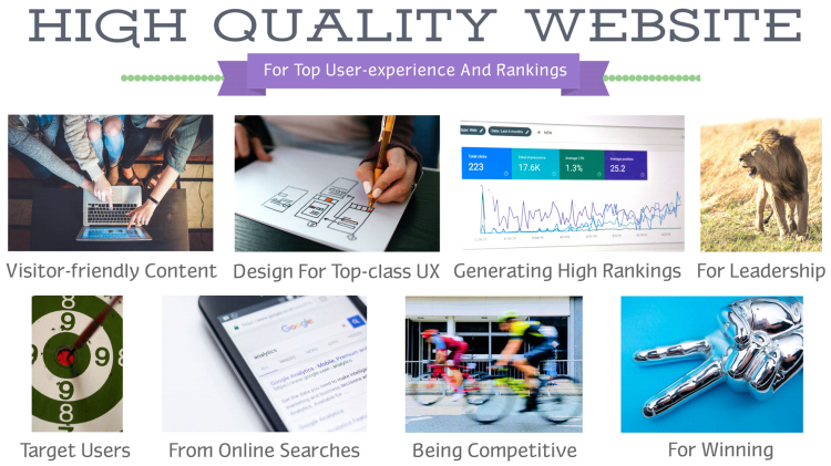 creating high quality sites for best rankings on google and bing searches