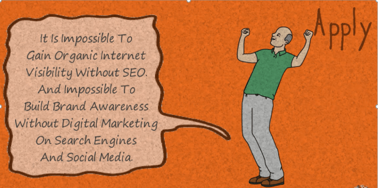 create brand awareness online by digital marketing of websites and organic rank by seo