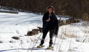 Snowshoeing in the garden in March 2015
