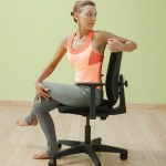 Seated twist with leg crossed