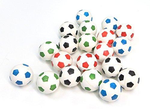 20 Soccer Super Bouncy Balls 27mm