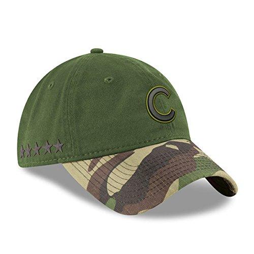 Chicago Cubs New Era 2017 Memorial Day 9TWENTY Adjustable Hat - Green/Camo