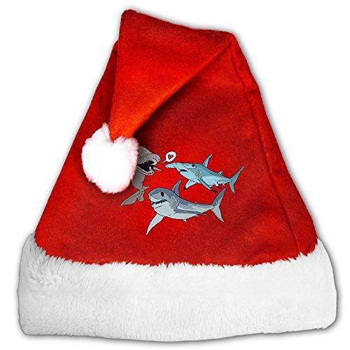 MingDe YY Shark Brother Play Adults Child Velvet Santa Hat Christmas Hat Xmas Hat