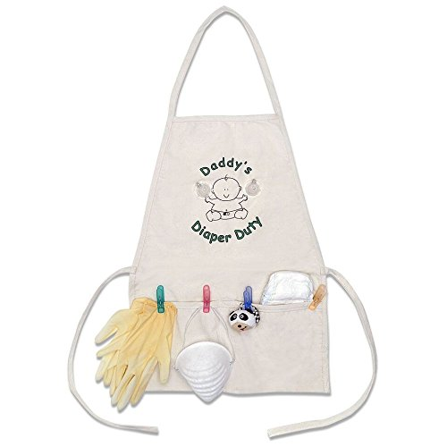 Daddy's Diaper Duty Apron - Unique New Dad Gag Gift- Baby Shower Gift Idea