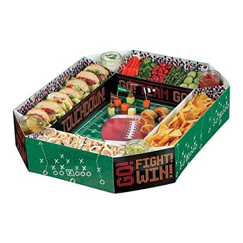 "Football Frenzy Birthday Party Snack Stadium Tableware, Paper, 4"" x 19"" x 25"""