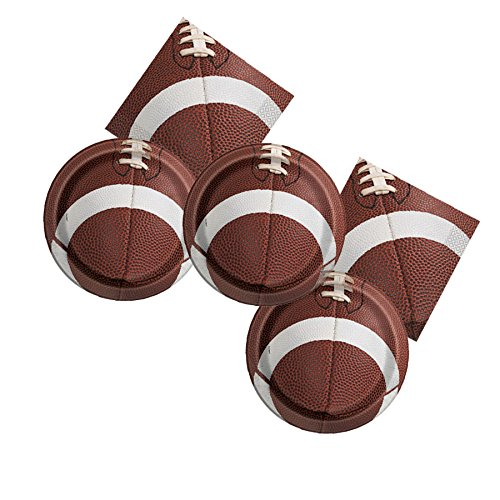 Football Game Day Birthday Party Plates & Napkins Serves 16