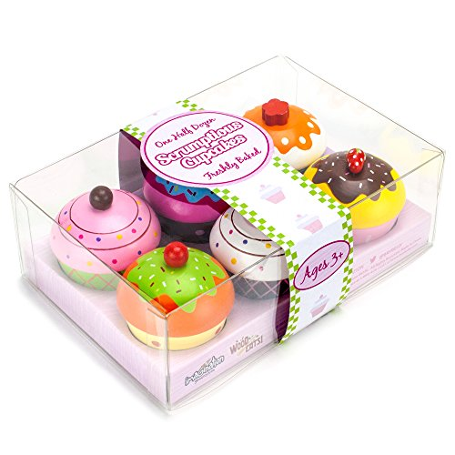 Wood Eats! Scrumptious Cupcakes Dessert Set (6pcs.) by Imagination Generation