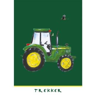 """kaart John Deere trekker uit de serie, 5 Friese kinderkaarten """"Op de boerderij"""""""