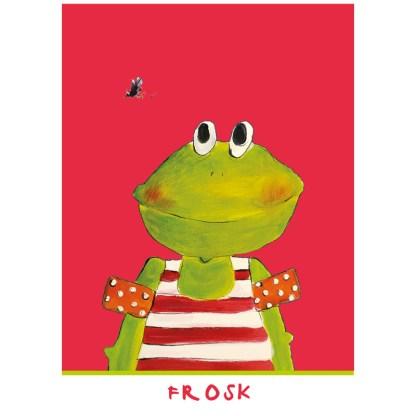 kaart van een kikker (frosk in het Fries)
